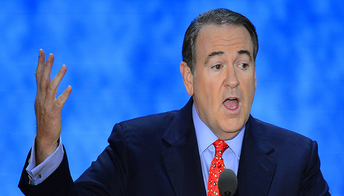 Mike Huckabee said that the slush fund violates the Constitution and somebody ought to go to jail for this