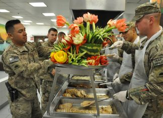 Thanksgiving turkeys U.S. troops deployed army