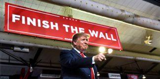 finish the wall, president trump, border wall