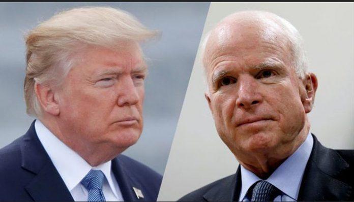 John McCain, Donald Trump