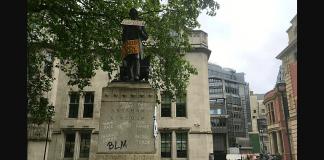 lincoln, abraham lincoln statue, london, blm protests